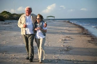 Oldercoupleonbeach